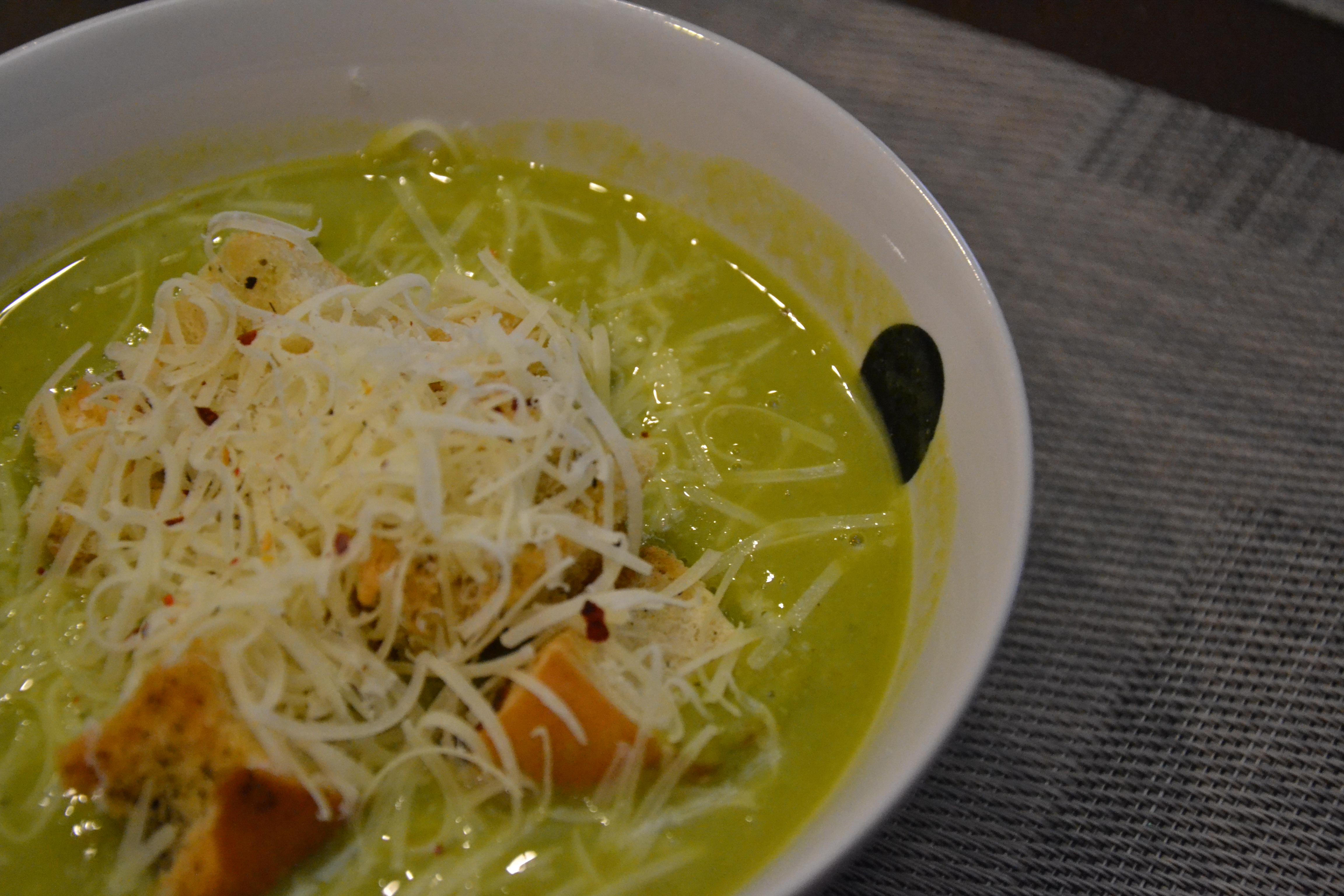 Суп из горошка с мятой