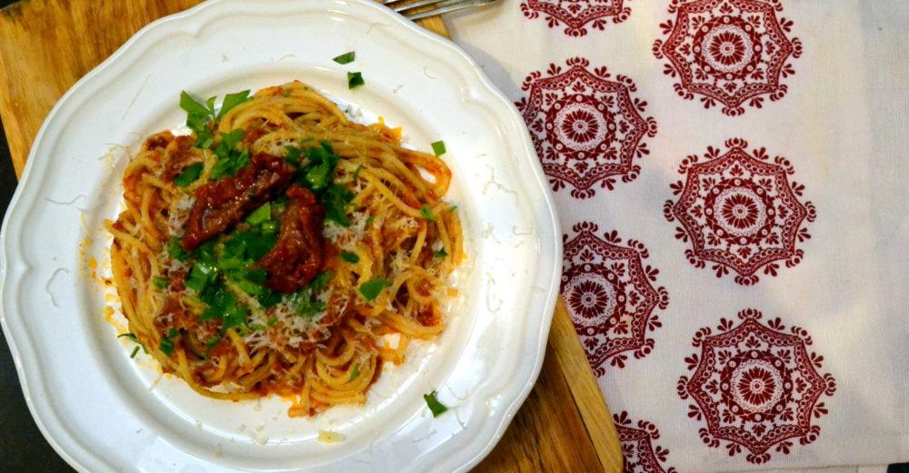 Спагетти с соусом «Арабьята»