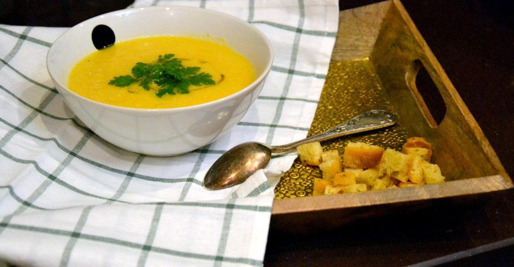 Суп из пастернака с имбирём