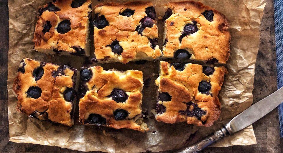 Итальянский пирог с голубикой