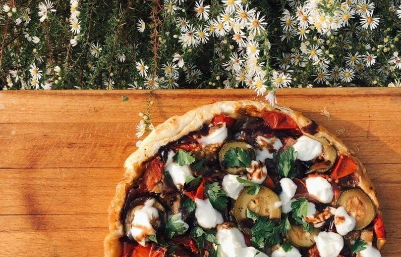 Пицца с запеченными овощами